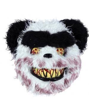 Máscara panda assassino 30x25cm. Acessórios para disfarces de Carnaval ou Halloween