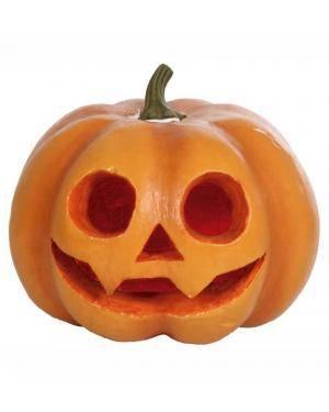 Abóbora com luz 20x20x19cm. Acessórios para disfarces de Carnaval ou Halloween