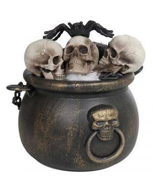 Conjunto panela de morte 19x19x20cm. Acessórios para disfarces de Carnaval ou Halloween