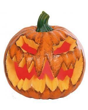 Abóbora halloween com luz 21x20x20cm. Acessórios para disfarces de Carnaval ou Halloween