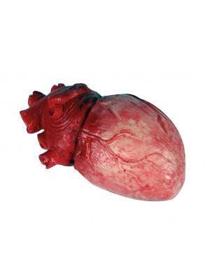 Coração látex 8x14cm. Acessórios para disfarces de Carnaval ou Halloween