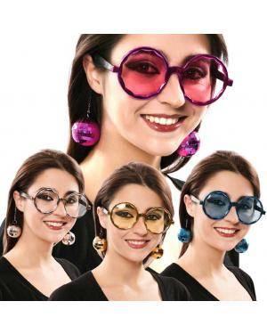 Óculos disco Acessórios para disfarces de Carnaval ou Halloween