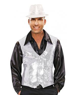 Colete lantejoulas prata Acessórios para disfarces de Carnaval ou Halloween