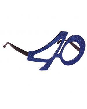 Óculos 40 aniversário magenta Acessórios para disfarces de Carnaval ou Halloween