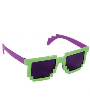 Óculos pixelizados Acessórios para disfarces de Carnaval ou Halloween