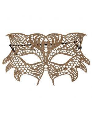 Máscara olhos renda ouro Acessórios para disfarces de Carnaval ou Halloween