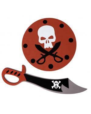 Espada e escudo pirata eva Acessórios para disfarces de Carnaval ou Halloween