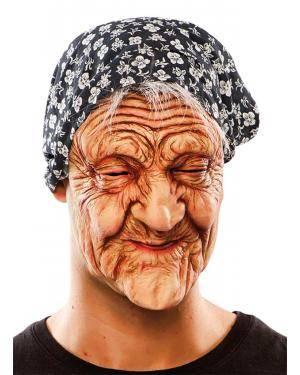 Máscara de velha látex Acessórios para disfarces de Carnaval ou Halloween