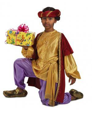 Fato de Pajem Baltasar Luxuoso Infantil para Carnaval