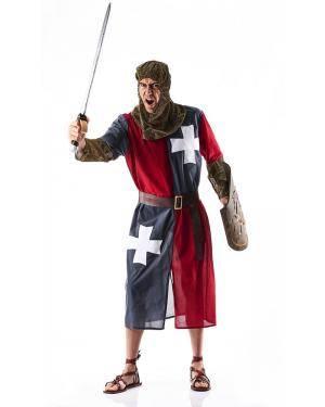 Fato de Medieval Cinzento Adulto Tamanho XL para Carnaval