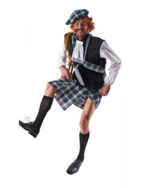Fato de Escocês Adulto Tamanho XL para Carnaval