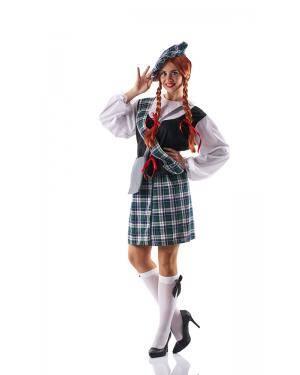 Fato de Escocesa Adulto Tamanho M para Carnaval