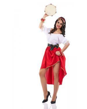 Fato de Cigana Adulto Tamanho M para Carnaval