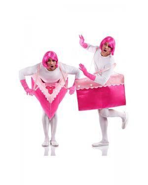 Fato de Bolo de Morango Adulto Tamanho M/L para Carnaval