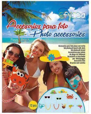 Acessorios Photo Booth Praia 12 Unid. Disfarces A Casa do Carnaval.pt