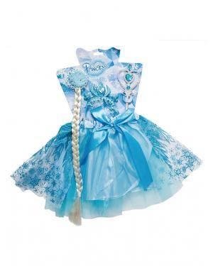 Acessórios Princesa Azul (Trança, Tiara, Varinha, Saia / Tútú) Disfarces A Casa do Carnaval.pt