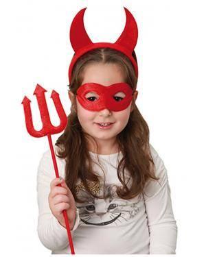 Bandolete com Chifres Máscara Tridente, Loja de Fatos Carnaval, Disfarces, Artigos para Festas, Acessórios de Carnaval, Mascaras, Perucas 705 acasadocarnaval.pt