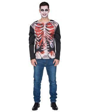 Camisa Esqueleto Zombie Adulto M/L Disfarces A Casa do Carnaval.pt