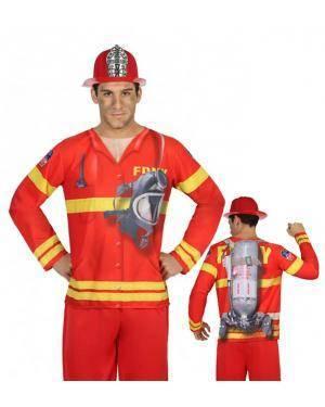 Camisola Bombeiro Homem M-L para Carnaval