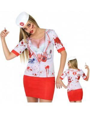 Camisola Enfermeira Morta para Carnaval