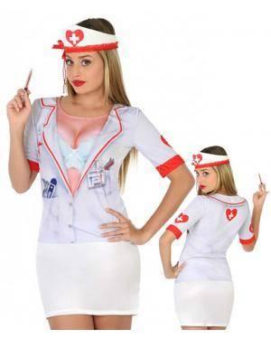 Camisola Enfermeira Sexy XS/S para Carnaval