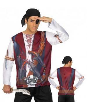 Camisola Estampada Pirata Homem para Carnaval