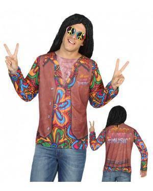 Camisola Hippie Homem M-L para Carnaval