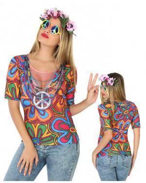 Camisola Hippie Mulher XS-S para Carnaval