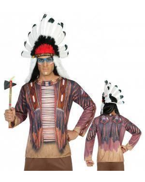 Camisola Índio Adulto para Carnaval