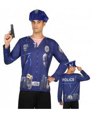 Camisola Policia Homem M-L para Carnaval
