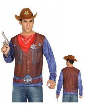 Camisola Vaqueiro Homem M-L para Carnaval