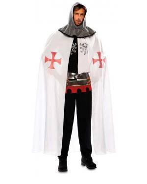Capa Medieval Branca Adulto para Carnaval