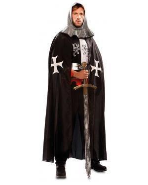 Capa Medieval Preta Adulto para Carnaval