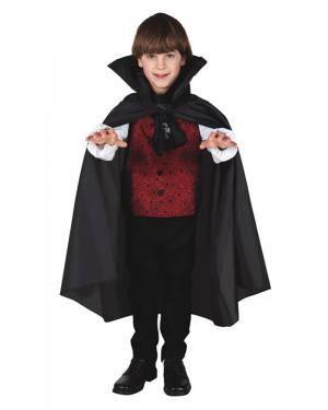 Capa Vampiro Infantil 75Cm para Carnaval o Halloween | A Casa do Carnaval.pt