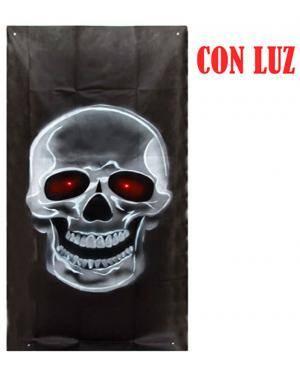 Cenário para Portas Crânio com Luz 75X185Cm  Disfarces A Casa do Carnaval.pt
