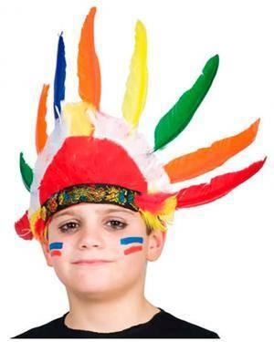 Chapéu Penas Indio Criança (3 Unidades) Loja de Fatos Carnaval, Disfarces, Artigos para Festas, Acessórios de Carnaval, Mascaras, Perucas 219 acasadocarnaval.pt