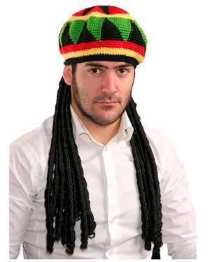 Chapéu e Peruca Bob Marley, Loja de Fatos Carnaval, Disfarces, Artigos para Festas, Acessórios de Carnaval, Mascaras, Perucas, Chapeus 213 acasadocarnaval.pt