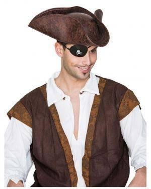 Comprar Chapéu Pirata Imitação Couro, Loja de Fatos Carnaval, Disfarces, Artigos para Festas, Acessórios de Carnaval, Mascaras 602 acasadocarnaval.pt