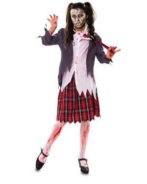 Disfarce de Colegial Zombie Adulta para Carnaval