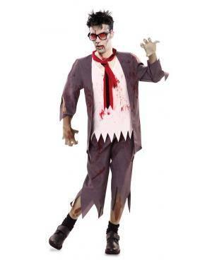 Disfarce de Colegial Zombie Adulto para Carnaval