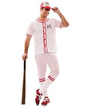 Disfarce de Jogador Beisebol Adulto para Carnaval