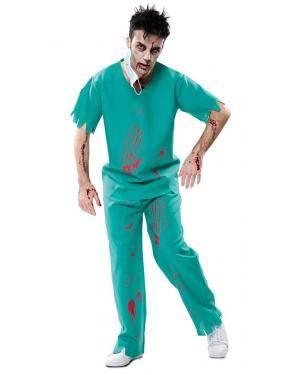 Disfarce de Médico Zombie Adulto para Carnaval