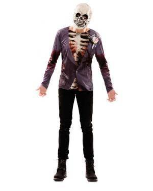Disfarce de Noivo Zombie Adulto para Carnaval