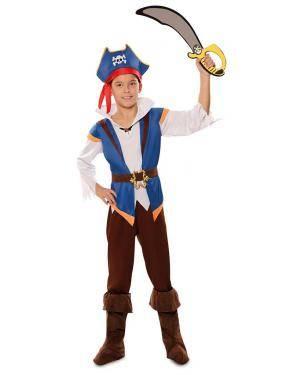 Disfarce de Pirata Jack Infantil para Carnaval