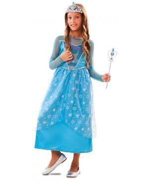 Disfarce de Princesa Inverno Infantil para Carnaval