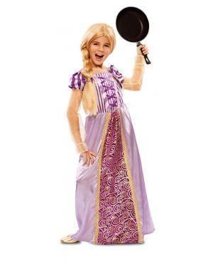 Disfarce de Princesa Lilás Infantil para Carnaval