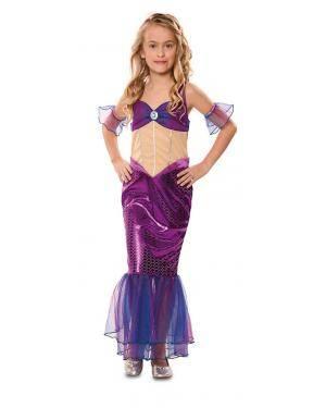 Disfarce de Sereia Infantil para Carnaval