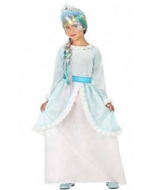 Disfarce Princesa Azul Infantil para Carnaval