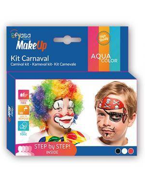 Kit Aquacolor Carnaval 3 Cores 3x2gr para Carnaval ou Halloween