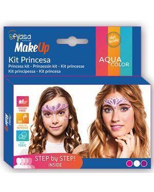 Kit Aquacolor Princesa 3 Cores 3x2gr para Carnaval ou Halloween